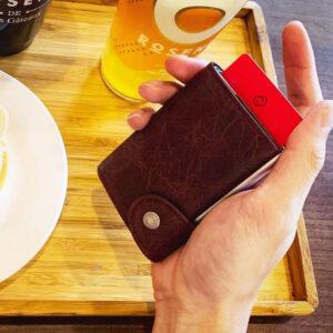 C-secure Card Holder / Wallet Vintage Leather