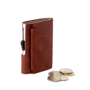 C-secure Card Holder / Wallet Coin Vintage Leather