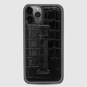 Gold Black Iphone 11 PRO with Finger Holder Case
