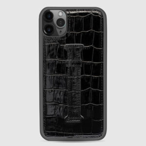 Gold Black Iphone 11 Pro MAX with Finger Holder Case