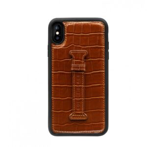 Gold Black Iphone XS Max Case with Finger Holder