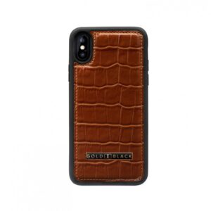 Gold Black Iphone XS Case