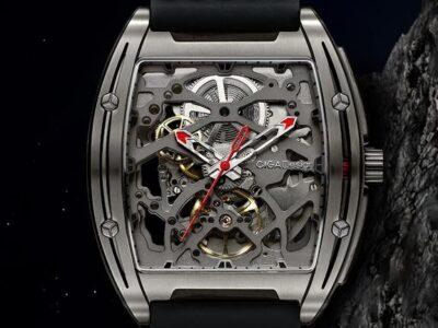 Ciga Design Z-Series Titanium Automatic Mechanical Skeleton Wristwatch - Black
