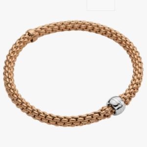 Fope Flex'it bracelet SOLO - Rose Gold, Small