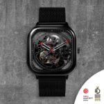 (product) Ciga Design Full Hollow Automatic Mechanical Skeleton Wristwatch