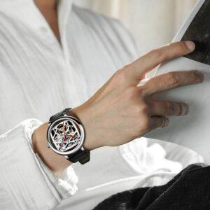 (product) Ciga Design Fang Yuan Automatic Mechanical Skeleton Wristwatch