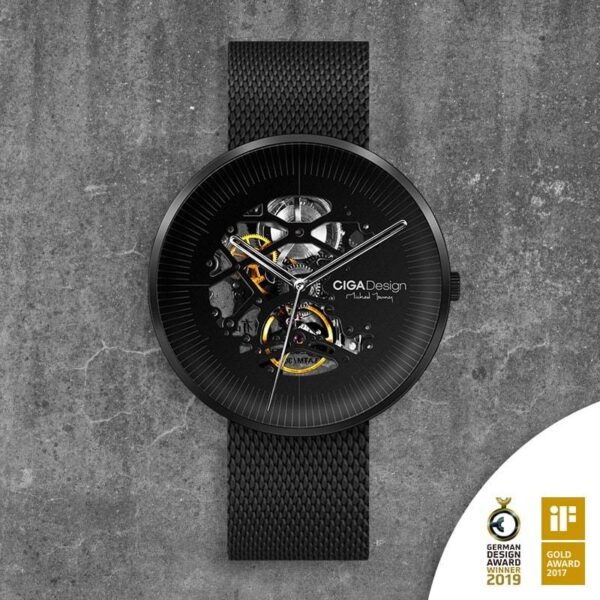 (product) Ciga Design Michael Young Series Automatic Mechanical Skeleton Wristwatch