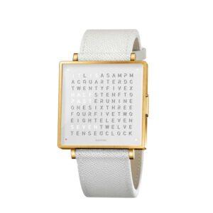 Qlocktwo W39 Gold White Watch