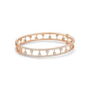 De Beers Bracelets Dewdrop bangle in rose gold