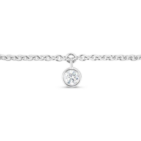 De Beers Wedding day jewellery Clea one diamond bracelet in white gold 18 cm