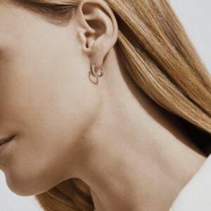 De Beers Wedding day jewellery DB Classic hoop earrings in white gold