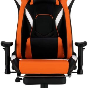 MEETION Gaming Chair, Ergonomic design, Patent race car seat breathable material leatherette Cover CHR22