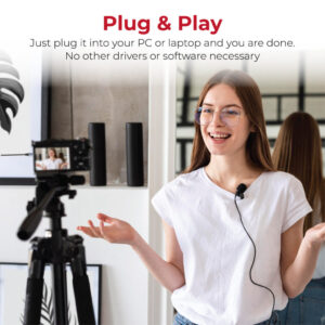 Promate Lavalier Microphone, Professional Omnidirectional Condenser Clip Mic with 3.5mm Audio Connector, HD Sound and Noise Reduction for Recording YouTube, Vlogging, Interviews, Meetings, ClipMic-AUX