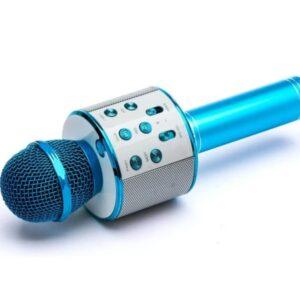 Wireless Bluetooth Karaoke Microphone Handheld USB KTV Player MIC Speaker WS-858 - Blue