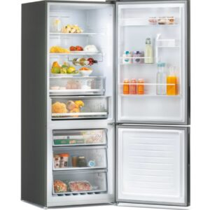 Candy Bottom Freezer Refrigerator Dark Inox