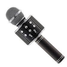 Wireless Bluetooth Karaoke Microphone Handheld USB KTV Player MIC Speaker WS-858 - Black
