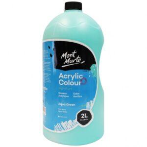 (product) Acrylic Colour 2L Pump - Aqua Green