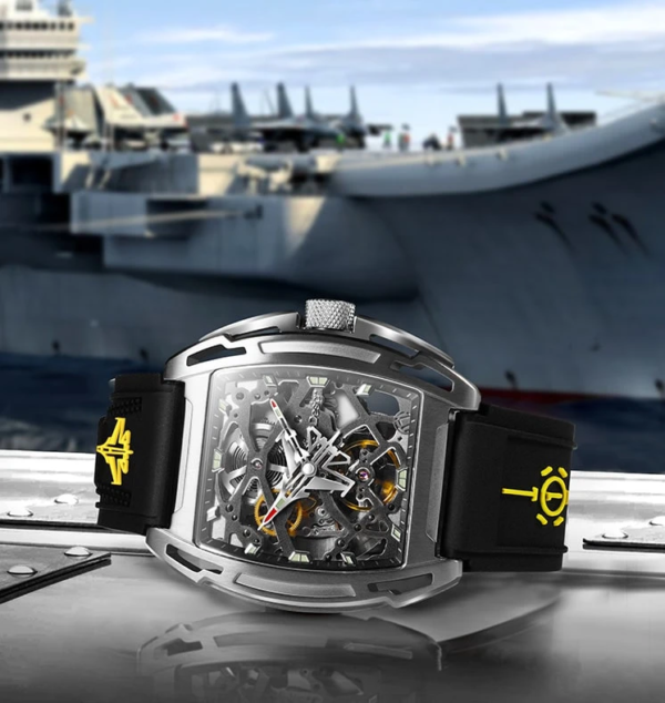 (product) Ciga Design Aircraft Carrier Automatic Mechanical Skeleton Wristwatch